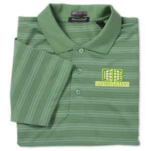 SolarShield UPF 30+ Jacquard Stripe Polo - Men's Main Image