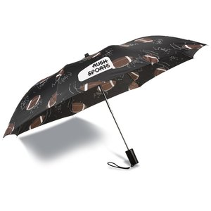 Sports League Auto Open Umbrella - Football - Closeout Main Image