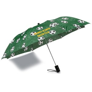 Sports League Auto Open Umbrella - Soccer - Closeout Main Image