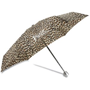 totes Mini Auto Open/Close Umbrella with Case - Leopard