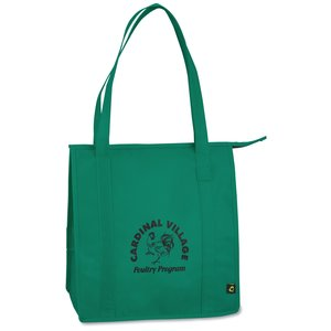 "Zippered Grocery Tote - 13"" x 12"" Main Image"
