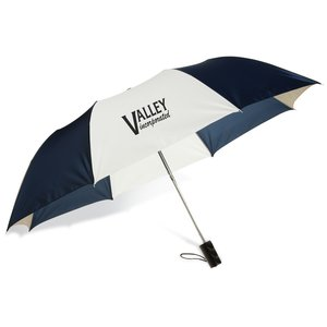 Barrister Auto Opening Folding Umbrella - Tricolor - 24 hr Main Image