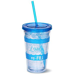 Wavy Color Scheme Spirit Tumbler - 16 oz.