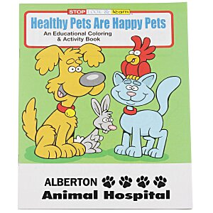 Healthy Pets Are Happy Pets Coloring Book Main Image