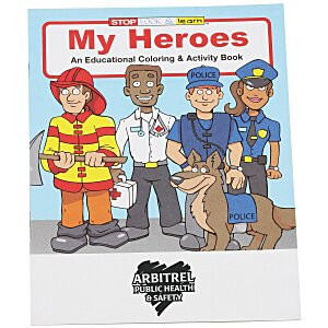 My Heroes Coloring Book Main Image