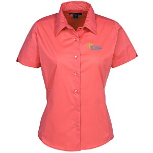 Easy Care Short Sleeve Stretch Poplin Blouse - Ladies' Main Image