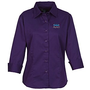 Blue Generation Peached Fine Line Twill Shirt – Ladies' Main Image