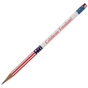 Stars & Stripes with 2 Tone Eraser Pencil