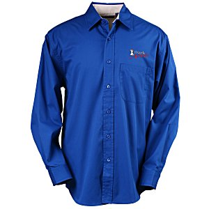 Blue Generation LS Peached Fine Line Twill Shirt – Men's Main Image
