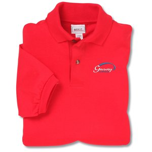 Anvil 50/50 Jersey Knit Polo - Embroidered - Colors Main Image