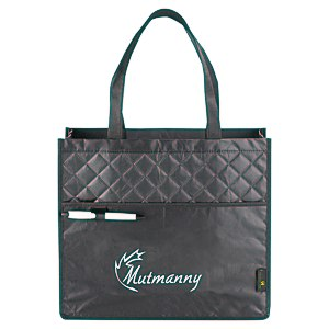Laminated Quilted Carry-All Tote Main Image