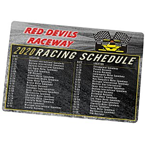 NASCAR Racing Schedule Magnet - 20 mil Main Image