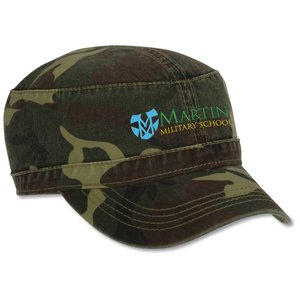 Military Cap - Embroidered - Camo