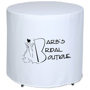 "Fitted Round Table Cover - 29"" Main Image"