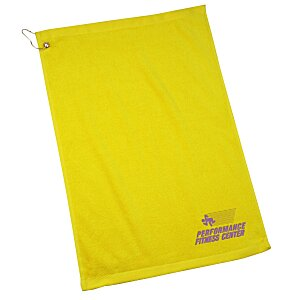 Golf Towel with Grommet and Clip - 24 hr