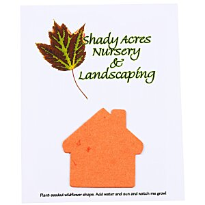 "Seeded Paper Shapes Mailer/Postcard - 4"" x 5"" House"