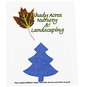 "Seeded Paper Shapes Mailer/Postcard - 4"" x 5"" Tree"
