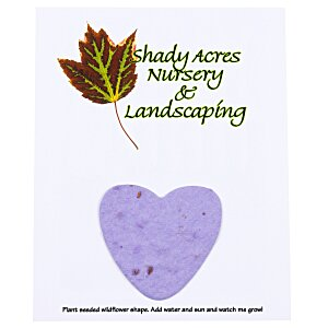"Seeded Paper Shapes Mailer/Postcard - 4"" x 5"" Heart Main Image"