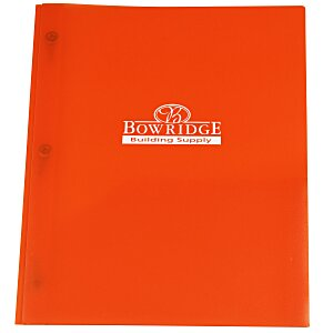 3 Prong Twin Pocket Presentation Folder - Translucent Main Image