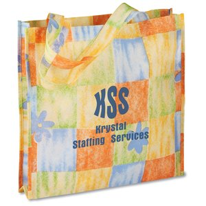 Polypropylene Patterned Gusseted Tote - Closeout Main Image