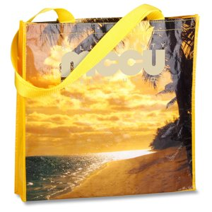 PhotoGraFX Scapes Gusseted Tote - Beach - Closeout Main Image