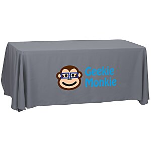 Economy Open-Back Polyester Table Throw - 6' - 24 hr Main Image