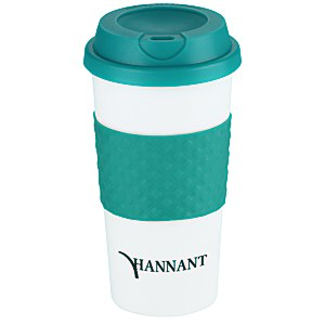 Color Banded Classic Coffee Cup - 16 oz. - 24 hr Main Image