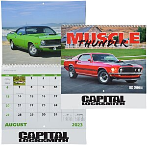 Muscle Thunder Calendar - Spiral Main Image