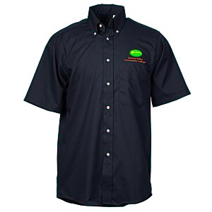 Soil Release Button Down SS Poplin Shirt - Men's