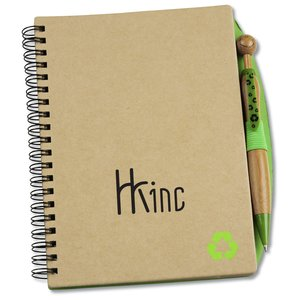 Eco Notebook w/Bamboo Swanky Pen Main Image