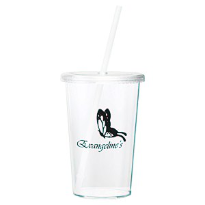 Sizzle Single Wall Tumbler with Straw - 16 oz. Main Image