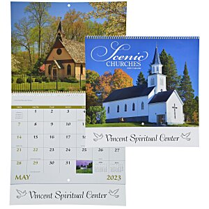 Scenic Churches Calendar - Spiral Main Image