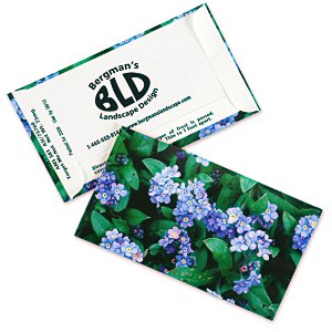 Business Card Seed Packet - Blue Forget Me Not