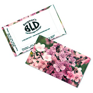 Business Card Seed Packet - Pink Forget Me Not Main Image