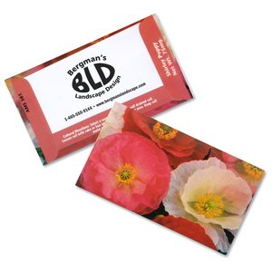 Business Card Seed Packet - Shirley Poppy Main Image