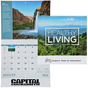 Healthy Living Calendar - Spiral Main Image