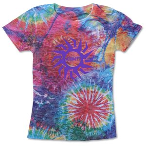 Blue 84 Juniors' Burnout Sublimated Tee - Color Burst Main Image