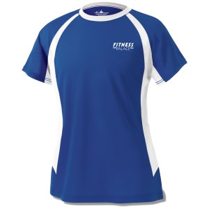 Anti-Microbial Color Block Wicking Tee - Ladies' - Screen