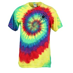 Dyenomite Tie-Dye Multicolor Spiral -T-Shirt - Screen Main Image