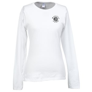 Gildan SoftStyle LS T-Shirt - Ladies' - Screen - White Main Image