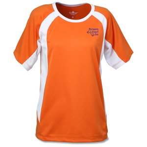 Anti-Microbial Color Block Wicking Tee - Ladies' - Emb Main Image