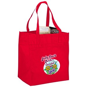 "Polypropylene Reusable Grocery Bag - 15"" x 13"" - Full Color Main Image"