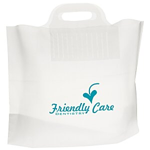 "Soft Bridge Handle Plastic Bag - 12"" x 16"""