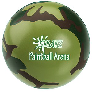 Camouflage Round Stress Reliever Main Image