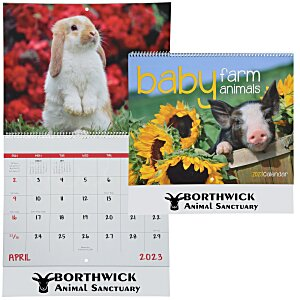 Baby Farm Animals Calendar - Spiral Main Image