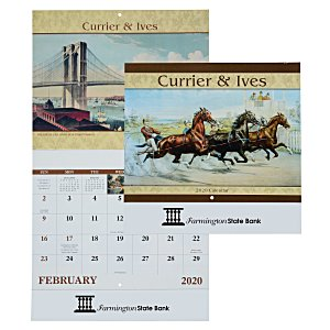 Currier & Ives Calendar - Stapled Main Image