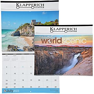 World Scenic Large Wall Calendar Main Image