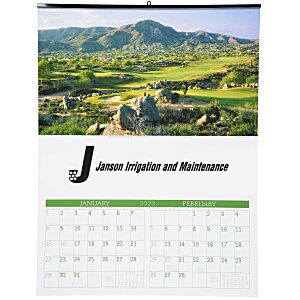 Golf Landscapes Calendar with 2-month view Main Image