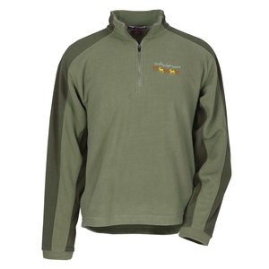 Color Block Microfleece Pullover Main Image