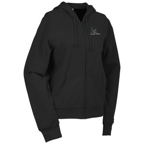 Bella Raglan Full Zip Hooded Ladies' Sweatshirt- Embroidered Main Image